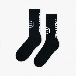 DOLLY NOIRE Vertical Logo Black Socks