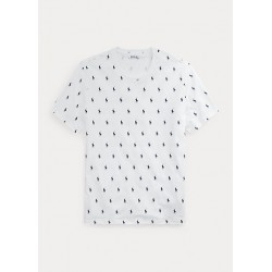 POLO RALPH LAUREN T-Shirt Pony stampa Allover White